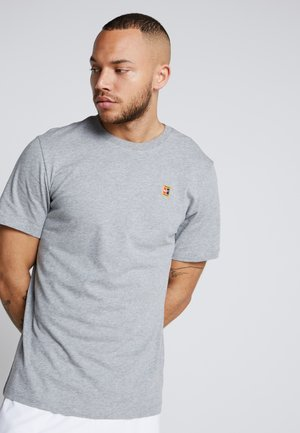 COURT TEE - T-Shirt basic - dark grey heather