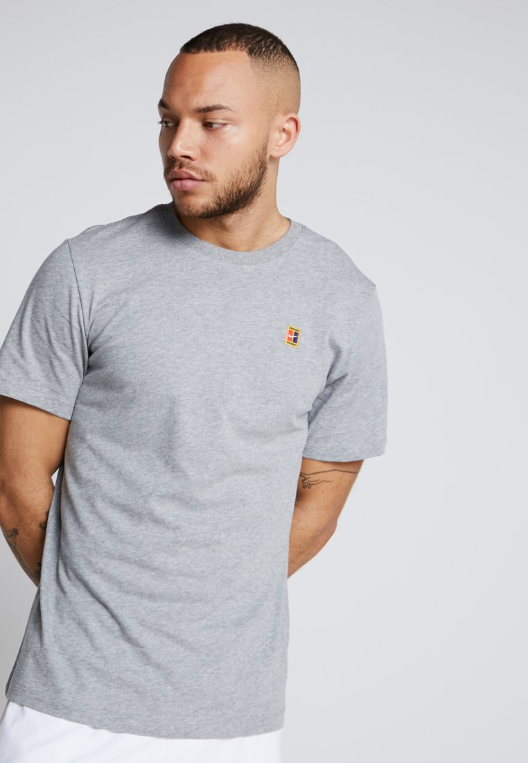 Nike Performance - COURT TEE - Camiseta básica - dark grey heather