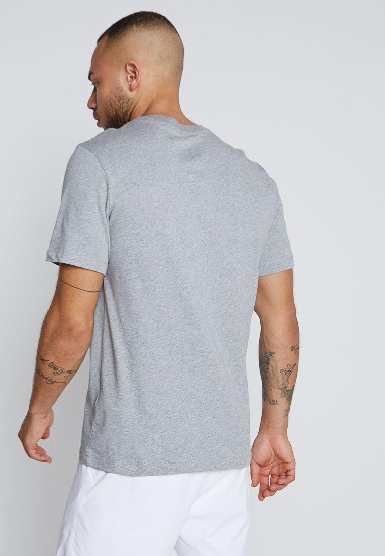 Nike Performance COURT TEE - T-shirt - bas - dark grey heather