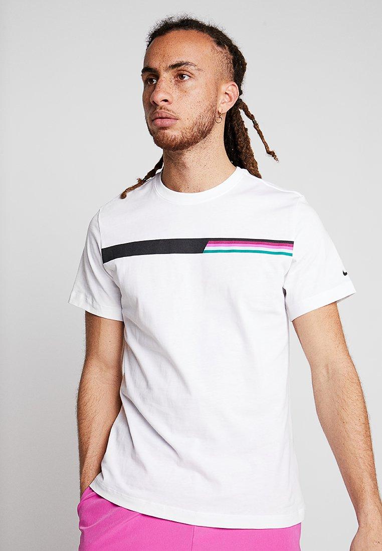 Nike Performance - ROGER FEDERER TEE - Camiseta estampada - white/black