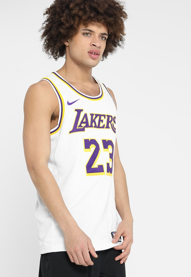 NBA LA LAKERS LEBRON JAMES SWINGMAN - Klubtrøjer - white