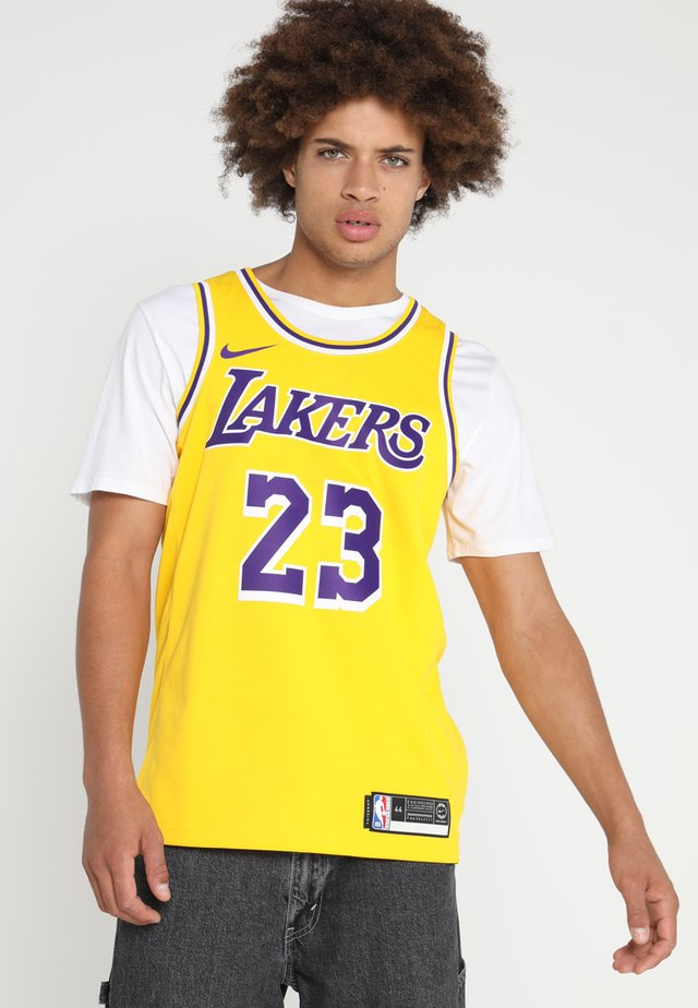 NBA LA LAKERS LEBRON JAMES SWINGMAN - Vereinsmannschaften - amarillo/field purple/white