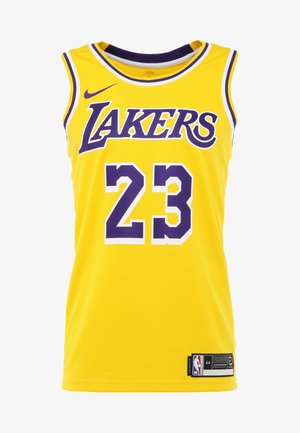 NBA LA LAKERS LEBRON JAMES SWINGMAN - Artykuły klubowe - amarillo/field purple/white