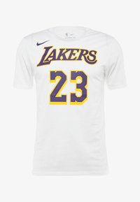 Nike Performance - NBA LA LAKERS LEBRON JAMES NAME NUMBER TEE - Klubbkläder - white - 4