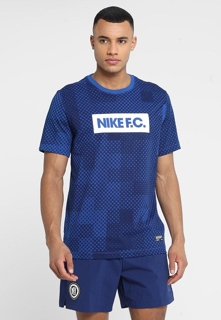 Nike Performance - FC TEE BLOCK - T-Shirt print - indigo force