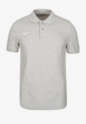 Poloshirt - grey heather / white