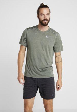 DRY COOL MILER - Camiseta básica - juniper fog/heather/jade horizon/reflective silver