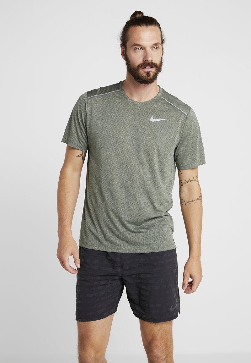 Nike Performance - DRY COOL MILER - T-shirts basic - juniper fog/heather/jade horizon/reflective silver