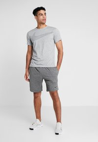 Nike Performance - DRY  - Camiseta estampada - grey heather/black - 1