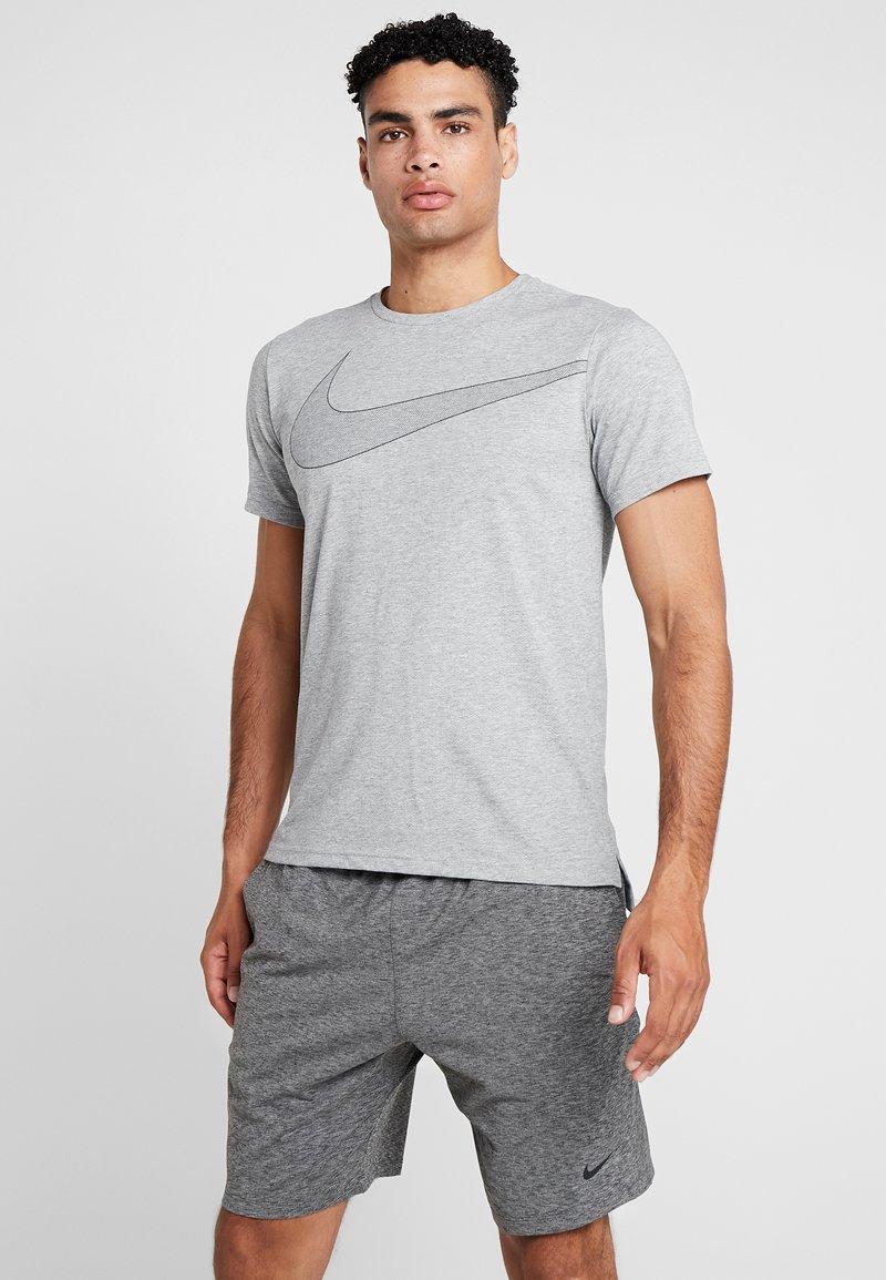 Nike Performance - DRY  - T-Shirt print - grey heather/black