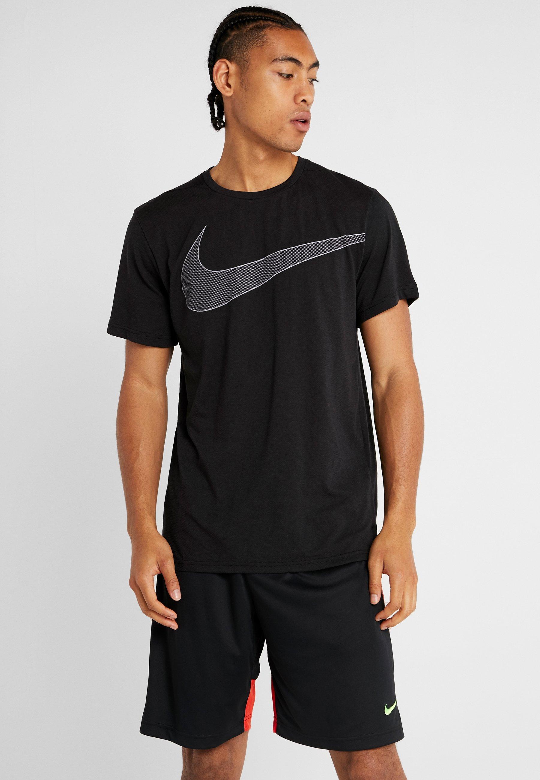 Performance Nike shirt white DryT Imprimé Black sQChtrd