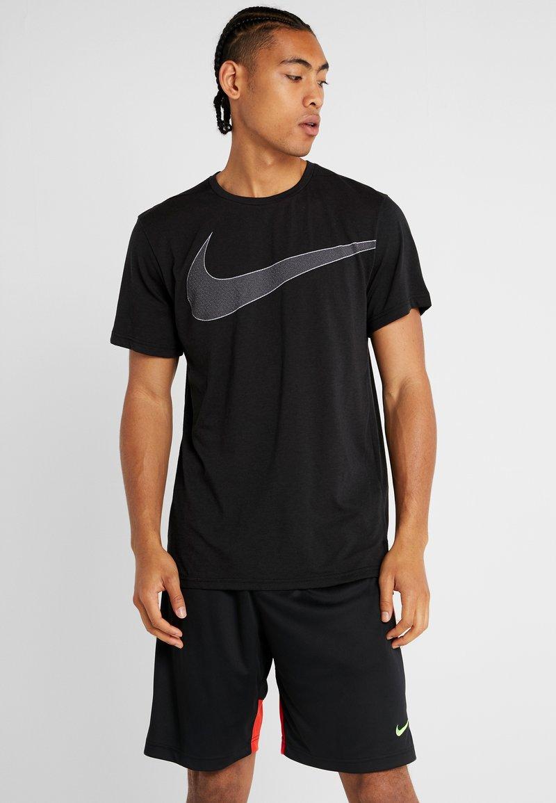Nike Performance - DRY  - T-shirt imprimé - black/white