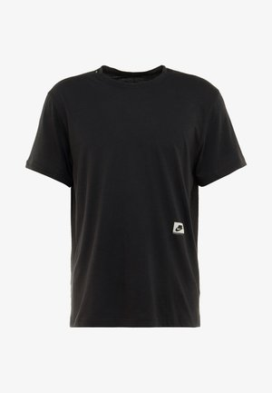 DRY - T-shirt con stampa - black/habanero red