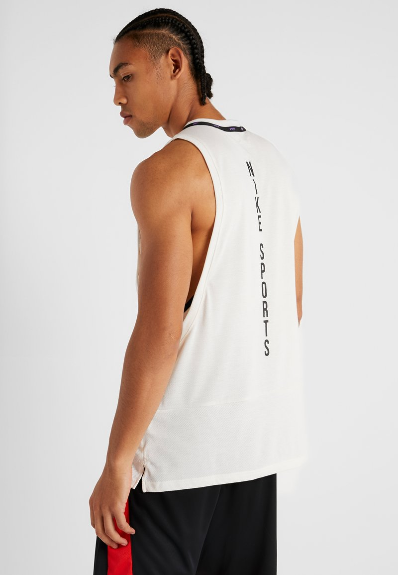 Nike Performance - DRY TANK  - T-shirt de sport - pale ivory/black