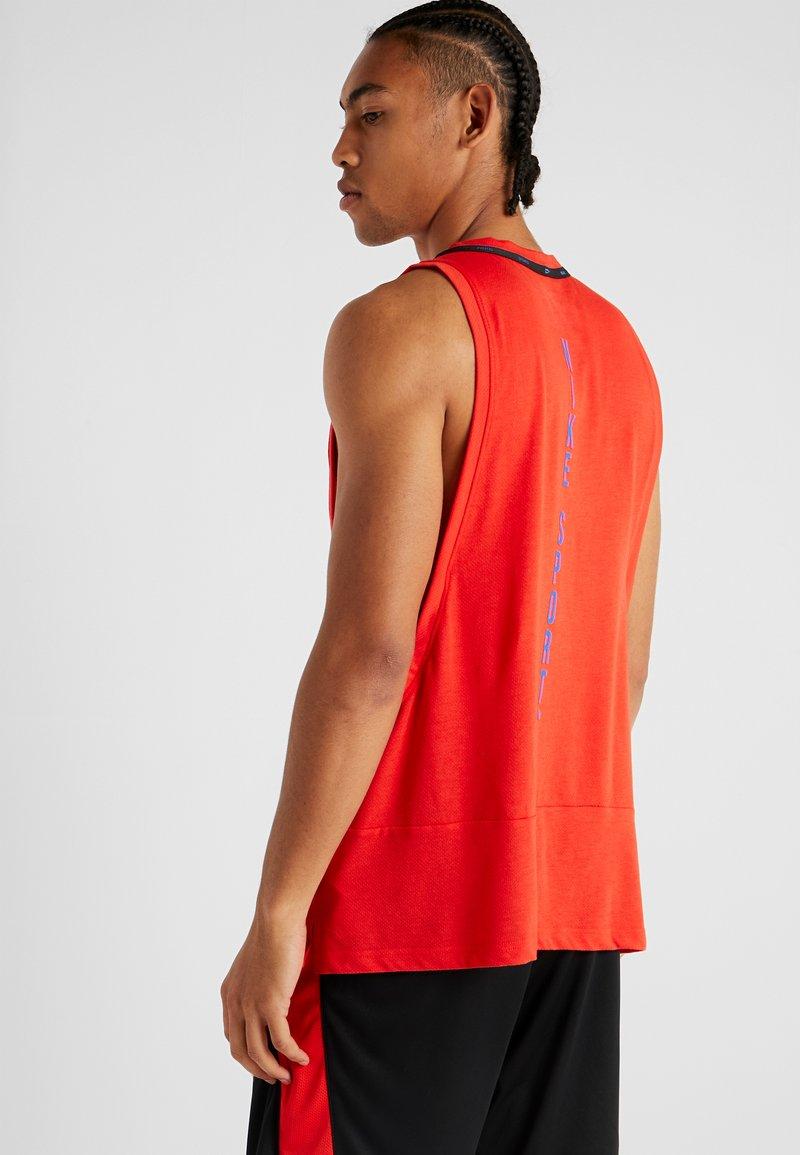 Nike Performance - DRY TANK  - Funktionstrøjer - habanero red/black/game royal