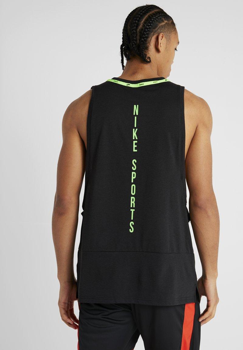 Nike Performance - DRY TANK  - Koszulka sportowa - black/habanero red/electric green