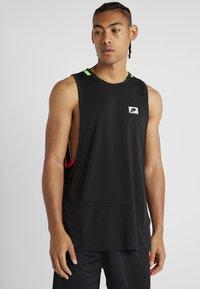 Nike Performance - DRY TANK  - Koszulka sportowa - black/habanero red/electric green - 2