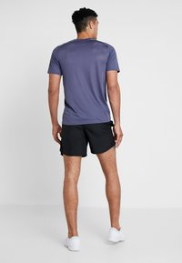 Nike Performance - BREATHE RUN - Print T-shirt - sanded purple/barely volt/reflective silver - 2