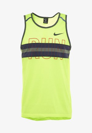 WILD RUN TANK - Camiseta de deporte - volt/blackened blue