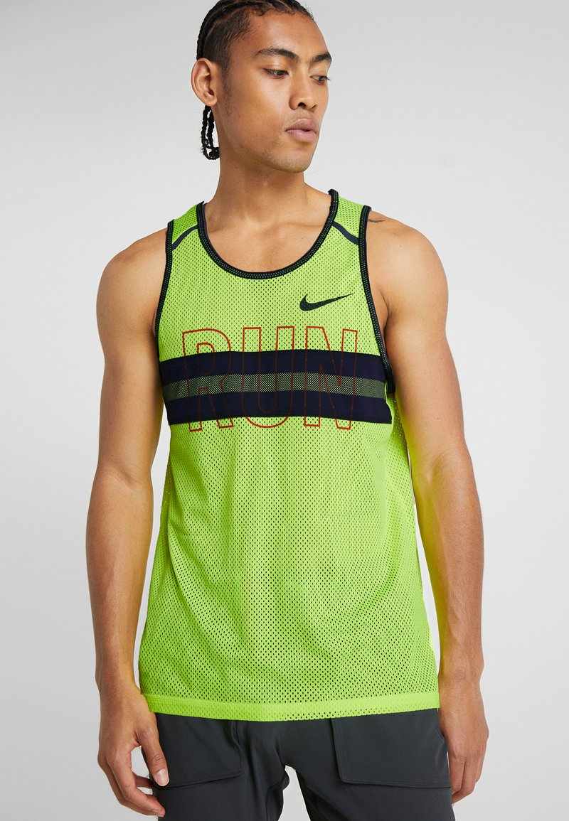 Nike Performance - WILD RUN TANK - Camiseta de deporte - volt/blackened blue