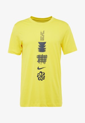 DRY RUN SEASONAL  - T-shirt con stampa - chrome yellow/obsidian