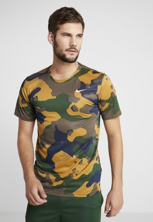 DRY TEE CAMO  - Print T-shirt - wheat