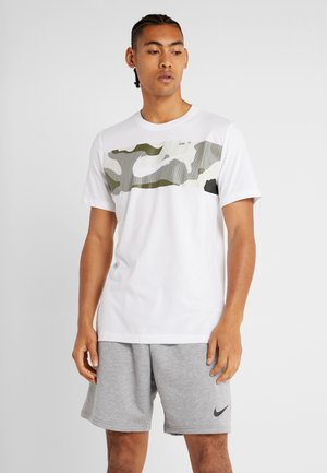DRY TEE CAMO BLOCK - T-shirt med print - white