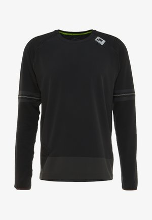 WILD RUN MIDLAYER - Funktionströja - black/off noir/electric green