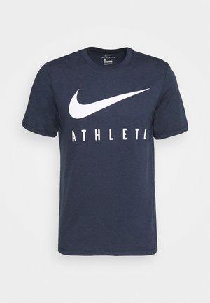 DRY TEE ATHLETE - T-shirt print - obsidian/white