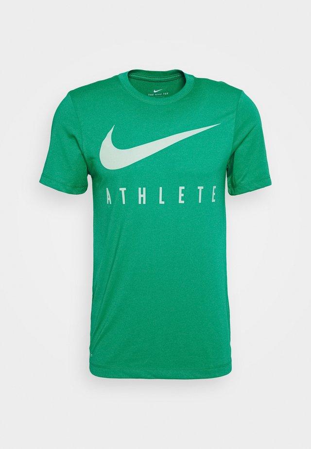 DRY TEE ATHLETE - Print T-shirt - neptune green