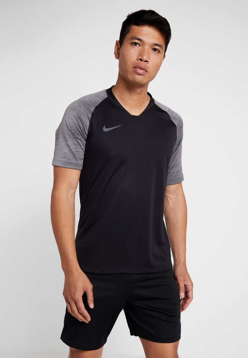 Nike Performance - T-Shirt print - black/wolf grey/anthracite
