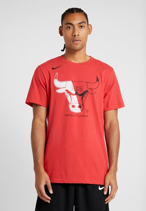 NBA CHICAGO BULLS LOGO TEE - Artykuły klubowe - university red