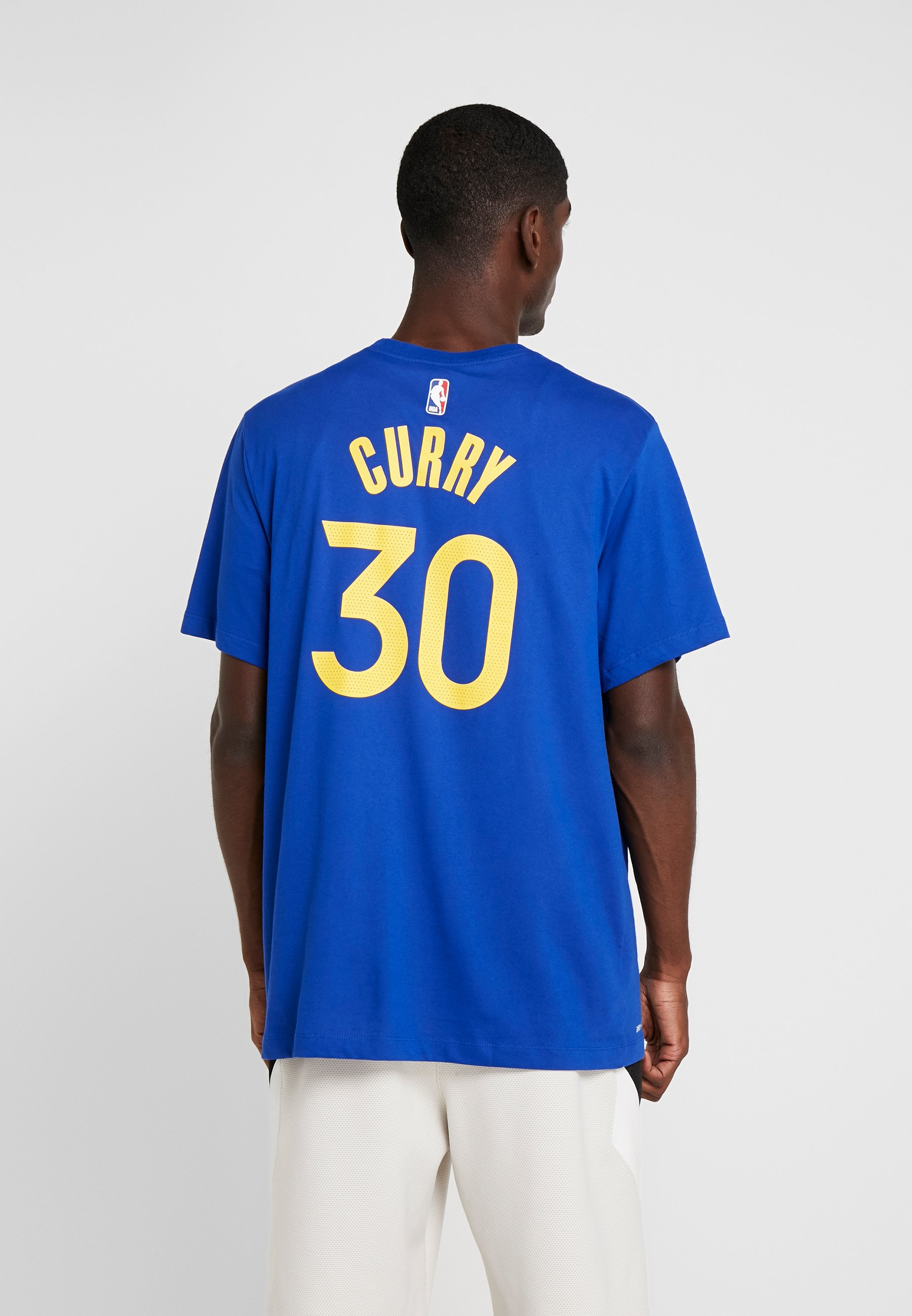 NBA GOLDEN STATE WARRIORS STEPH CURRY NAME NUMBER TEE Article de supporter rush blue