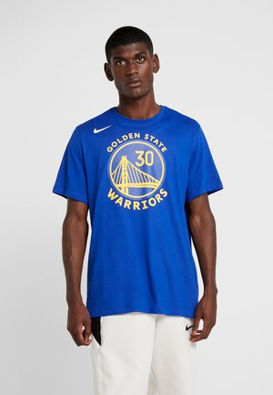 NBA GOLDEN STATE WARRIORS STEPH CURRY NAME NUMBER TEE - Klubbkläder - rush blue