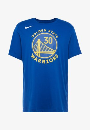 NBA GOLDEN STATE WARRIORS STEPH CURRY NAME NUMBER TEE - Club wear - rush blue