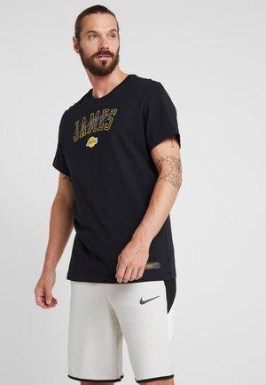 NBA LA LAKERS LEBRON TEE - Printtipaita - black