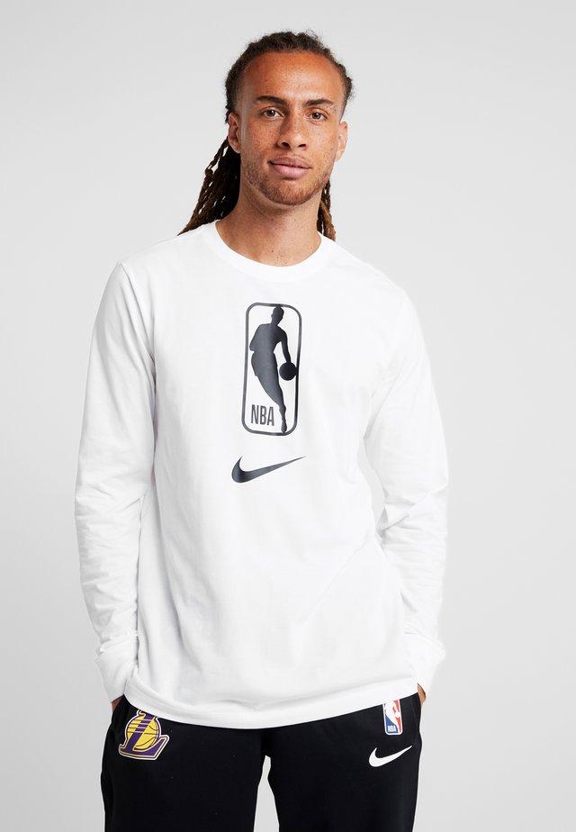 NBA LONG SLEEVE - Funkční triko - white