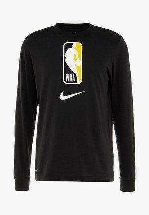NBA LONG SLEEVE - Koszulka sportowa - black/amarillo