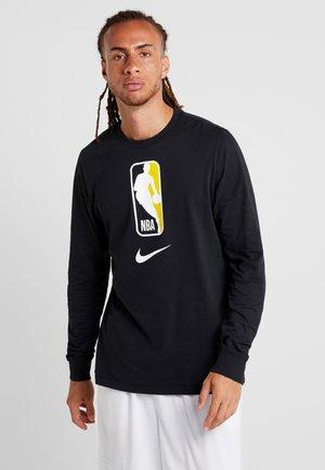 NBA LONG SLEEVE - Sportshirt - black/amarillo
