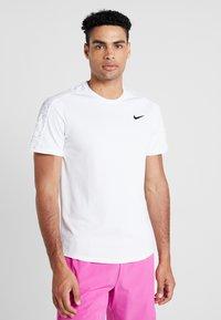 Nike Performance - DRY - Triko spotiskem - white/black - 0