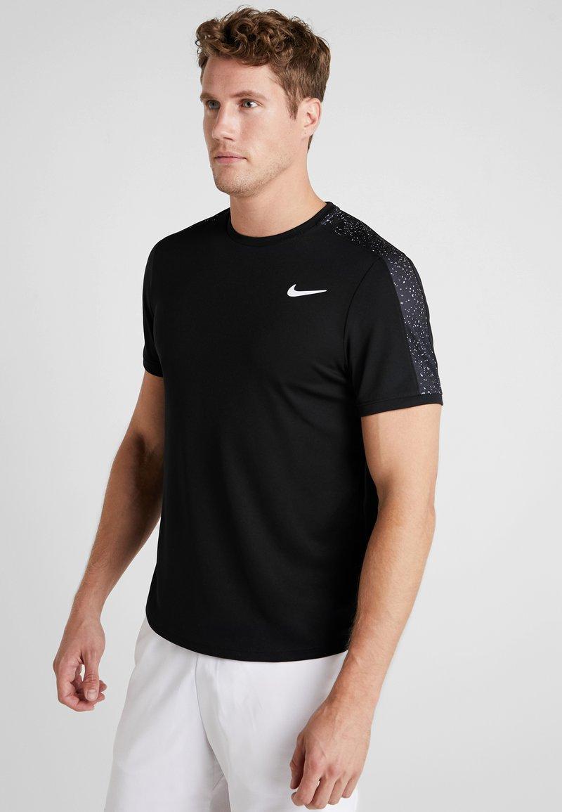 Nike Performance - DRY - Camiseta estampada - black/white