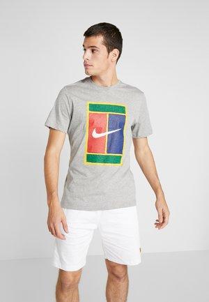 TEE COURT - Camiseta estampada - grey heather