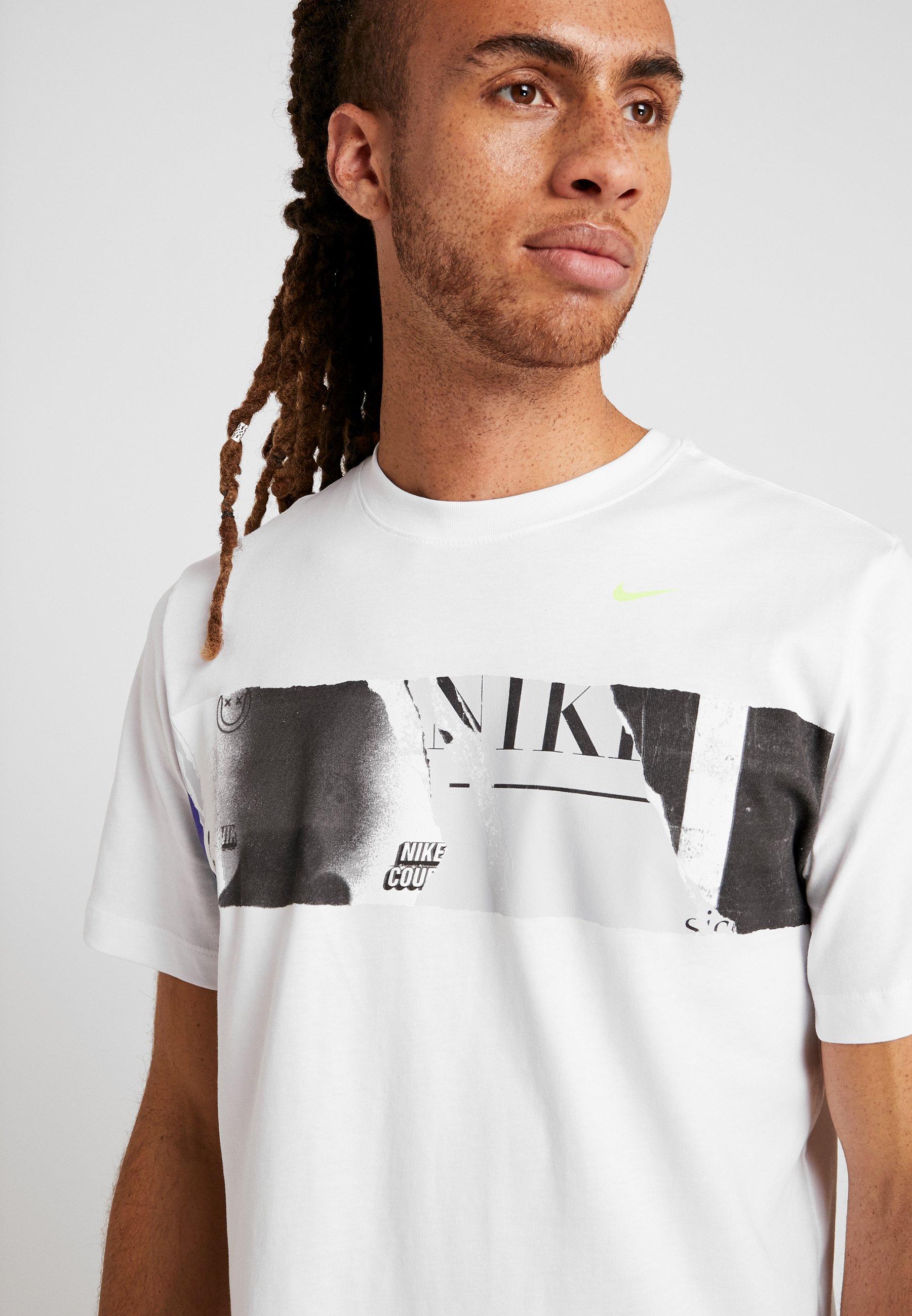 Nike Performance TEE US OPEN  - T-shirt z nadrukiem - white