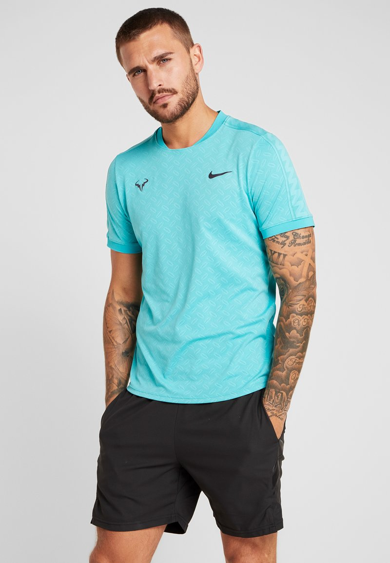 Nike Performance - RAFAEL NADAL - Print T-shirt - hyper jade/gridiron