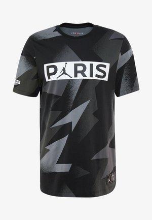 CAT FC JOCK TAG TEE - Print T-shirt - black