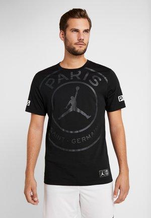 PSG SS LOGO TEE - T-shirt z nadrukiem - black