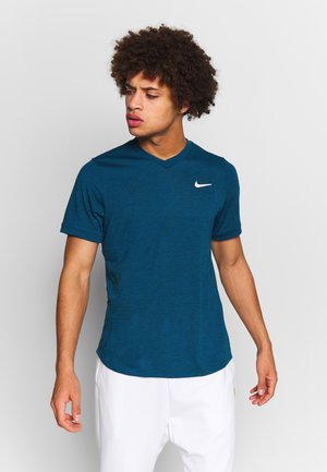 DRY  - Basic T-shirt - valerian blue/white