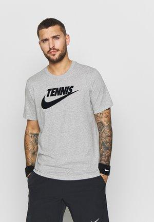 M NKCT - Print T-shirt - dark grey heather/black