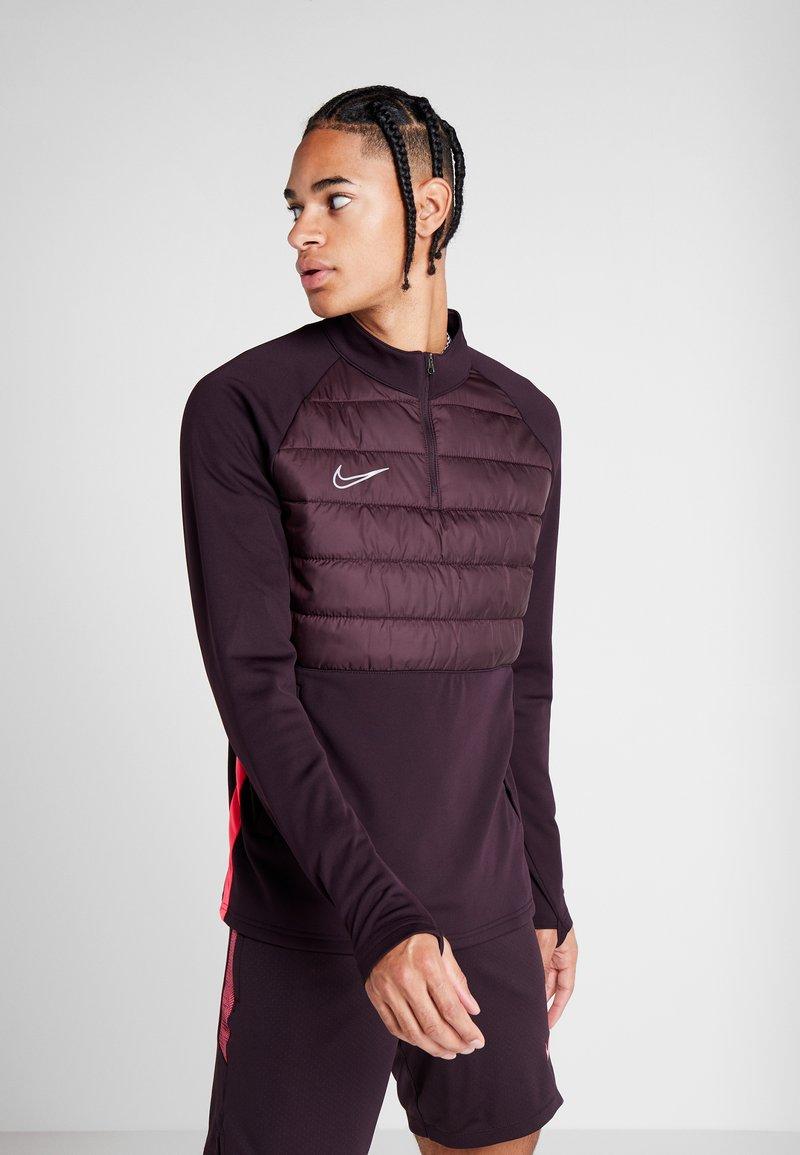 Nike Performance - DRY WINTERIZED - Fleece jumper - burgundy ash/racer pink/reflective silver