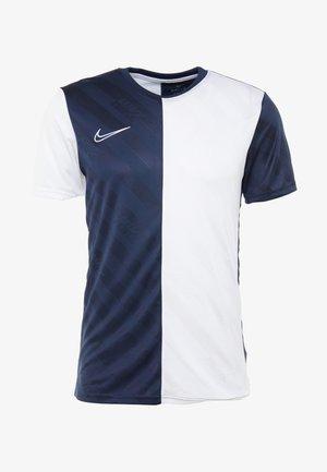 DRY ACADEMY - Camiseta estampada - obsidian/white